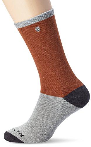 Brixton Socks Rogue 1-Pair, Grey/Rust, One Size