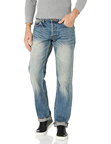 PRPS Goods & Co. Herren Barracuda Regular Fit Straight Leg Selvedge Jeans in 5 Jahren, 5 Jahre, 40