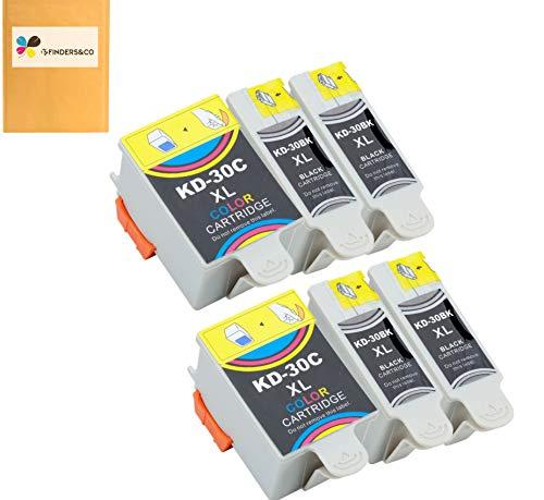 Compatible Kodak 30 30B 30C Ink Cartridges Replacement for Kodak ESP C315 C310 ESP 3.2 ESP Office 2150 2170 Hero 3.1 Hero 5.1 Printers (4Black, 2Color)