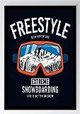 Snowboard Freestyle Kunstdruck Poster -ungerahmt- Bild DIN