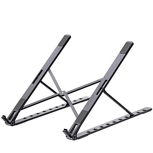 Ergonomic Stand Laptop Stand, Ventilated Ergonomic Laptop Desktop Laptop Shrink, Portable Laptop Non-slip Mounting Bracket (Color : Black)