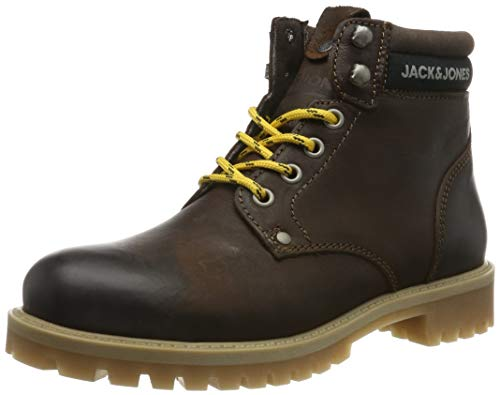 JACK & JONES Jfwstatton Leather, Botas Clasicas para Hombre, Marrón