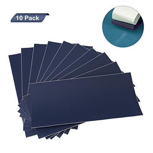 AIEVE 10 Stück Reparatur Folie Nylon Reparatur Patch Selbstklebender Reparaturflicken Flicken Aufkleber Wasserdich für Plane Zelte Rucksäcke Regenjacke Daunenjacken Regenschirm(Blau)