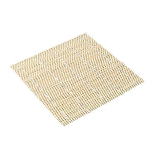 Timetided Rodillo de Sushi de bambú, Esterilla de Sushi DIY, Rodillo de arroz Onigiri, Fabricante de Manos, Herramientas de Sushi, Cocina, Herramienta Japonesa para Hacer Sushi, de Madera