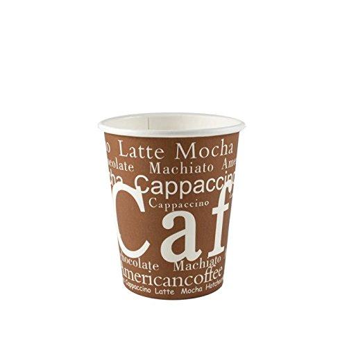 BAMI 1000 Stück Premium Kaffeebecher, 0,2l/ 8oz. Einwegbecher, Heißgetränkbecher, mit Motiv, Coffee to go Pappbecher passt in Autogetränkehalter Hot Cup