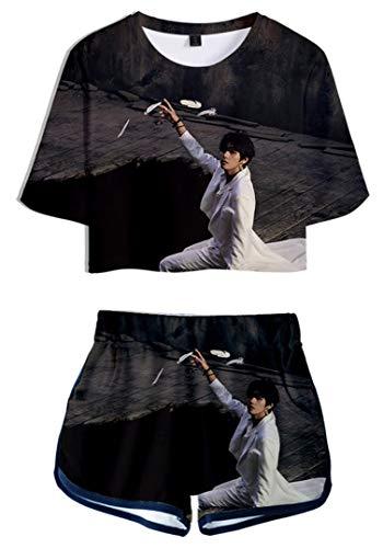 Silver Basic Conjunto de Verano para Mujer Camiseta y Pantalones Cortos Ropa...
