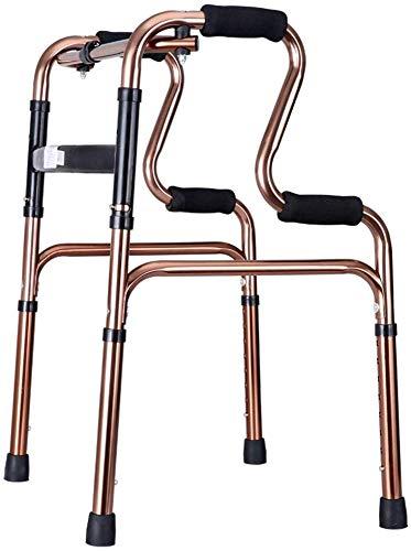 FEE-ZC Allzweck-Gehhilfe, leicht 2,2 kg Rollator-Gehhilfe ohne Rad 4-Bein-Gehstock Steh-WC-Rahmen für Senioren mit Behinderung  Einstellbare Höhe 70-78cm  Aluminiumlegierung  