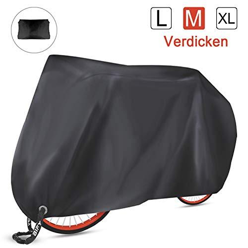 BIFY Fahrradabdeckung wasserdicht 210T hochwertige Fahrrad- / Motorradabdeckung, 180 x60 x 90 cm,Sonnenschutz und Regen (Verdicken M)