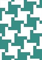 igsticker ポスター ウォールステッカー シール式ステッカー 飾り 1030×1456㎜ B0 写真 フォト 壁 インテリア おしゃれ 剥がせる wall sticker poster 003922 チェック・ボーダー 和風 和柄 緑