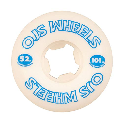 OJ from Concentrate Hardline 101a Skateboard Wheels - White - 52mm