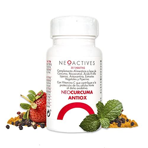 NeoCurcuma Antiox | Complemento Alimenticio de Cúrcuma y Más Ingredientes Naturales Suplemento Vegano | Contribuye al Normal funcionamiento del sistema inmunitario y del sistema nervioso (30 cápsulas)