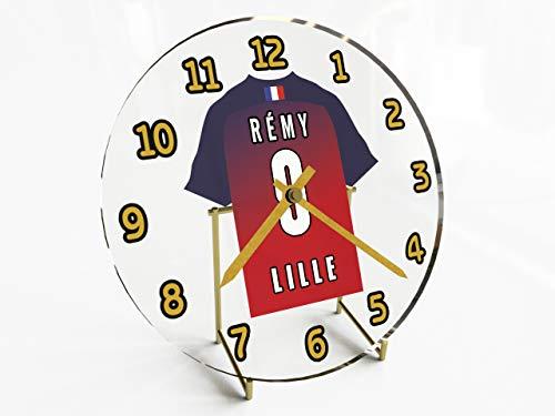 Frankreich Ligue 1–French Fußball Shirt Desktop Uhren–Jeder Name, beliebige, jedes Team, kostenlose Personalisierung. LOSC Lille