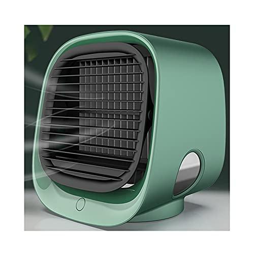 LIANJIE Ventilador De Escritorio USB,Ventilador De Enfriamiento Portátil De 3 Velocidades con Alimentación por USB,Viento Fuerte,Operación Silenciosa,para Mesa De Dormitorio De Oficina En Casa,Verde