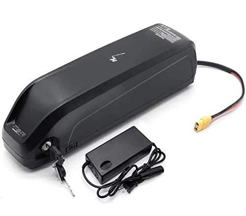 Hailong Li-OIN Batteria con USB 48V13Ah 48V 17AH Bici elettrica Downtube Batteria con Caricabatterie for 250W 500W 750W 800W 1000W Motore (Charger : 48V17.5Ah)