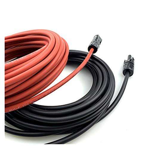 Lpgg-ZZ Câble PV Solaire 6mm²Awg 1 Paire Câble Solaire Rouge Et Noir avec Connecteurs Mâles Et Femelles, Fil De Cuivre De Haute Qualité (Color : 10AWG Red Black 4m)