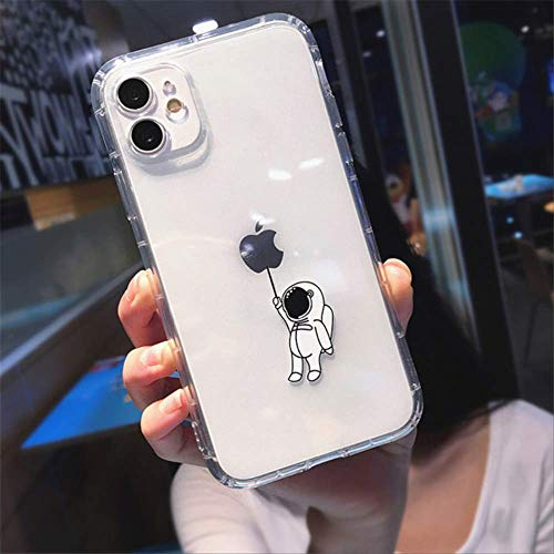 Carcasa de teléfono de Dibujos Animados para iPhone 12 Pro 11 Pro MAX XS MAX XR X 7 8 Plus 12 Mini Clear Cute Astronauts Fundas a Prueba de Golpes Contraportada para iPhone XR T2