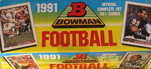 Bowman 1991 Football Cards Unopened Factory Set (561 Cards)