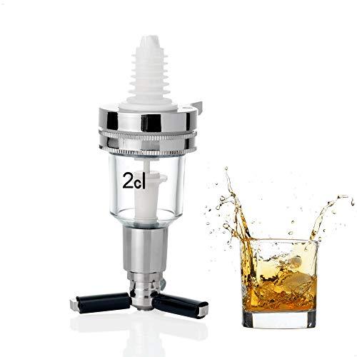 Kerafactum Dosierer 2cl Dosiergerät Getränkeportionierer Ausgießer 2 cl | Glas Schnapsausgießer Portionierer für Spirituosen Spender | Flaschenausgießer Schnaps Ausschenker Getränkedosierer