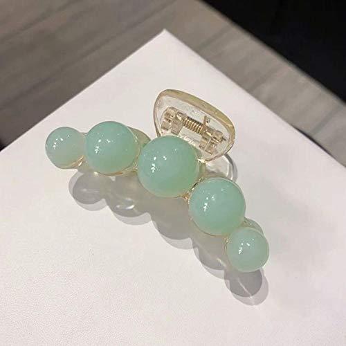 Charm4you Spessore Morsetti per Artigli per Capelli,New Jelly Color Large Elegant Hairpin-Verde Chiaro,Capelli Antiscivolo Pinza di Capelli