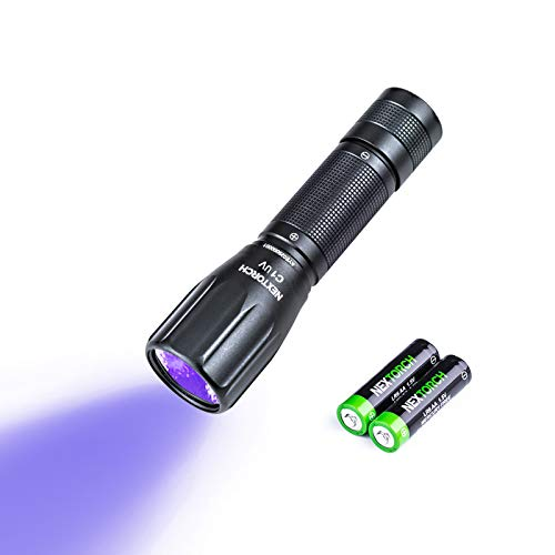 flashlight for stains UV Led Blacklight Flashlights Detector Ultraviolet Pocket-size LED Torch for Pets Urine and Stains Find Stains on Carpet, Rugs 3D Printed Resin (365nm UV)