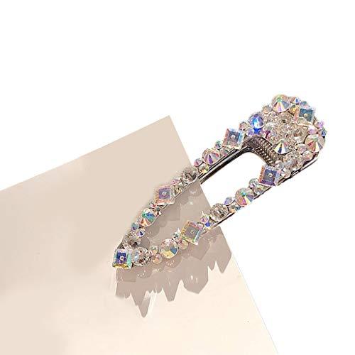 EUZeo - Elegante horquilla para el pelo con diamantes para mujer, joya para el pelo, adorno para el pelo, brillantes, flores, cristal, accesorio para el peine H talla única