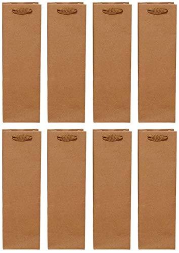 U/D 24 bolsas de almacenamiento de vino de papel kraft reutilizables, botellas de vino y whisky (contenedor simple de 11 x 9 x 35)