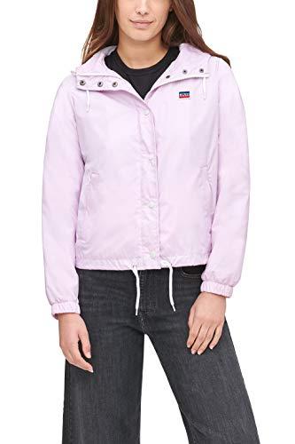 Levi's Retro Hooded Track Jacket Chaqueta para lluvia, rosa pastel, S para Mujer