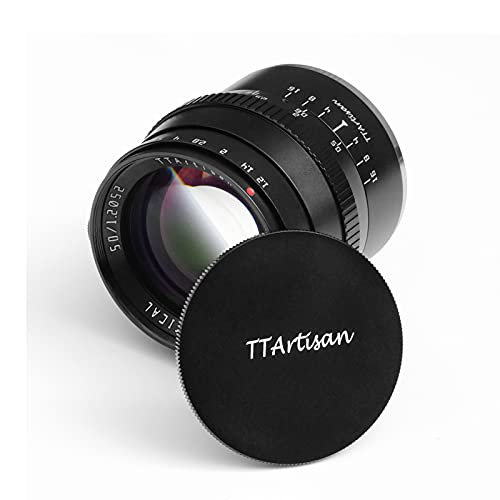 TTArtisan 50mm F1.2 Lens APS-C Cameras Lens Manual Focus Compatible with Fujifilm Mount Camera X X-M X-H X-T X-PR0 X-E XS10