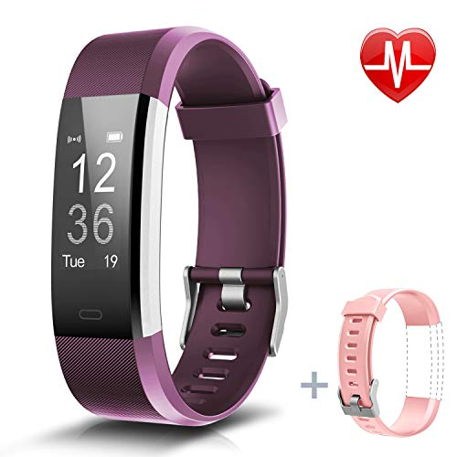 LETSCOM Fitness Tracker HR, Activity Tracker Watch with Heart Rate Monitor, IP67 Smart Bracelet with Step Counter, Calorie Counter, Pedometer Watch for Kids Women and Men