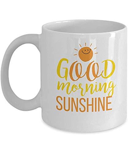 Keramische mok goede morgen zon witte thee en chocolade maakt geweldig geschenken office partij geschenken voor de vakantie seizoen 330 ml keramische mok porselein mok koffie mok porselein Cup gift