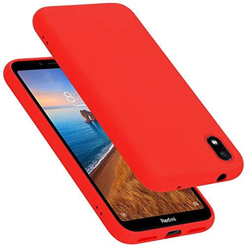 Cadorabo Hülle für Xiaomi RedMi 7A in Liquid ROT - Handyhülle aus flexiblem TPU Silikon - Silikonhülle Schutzhülle Ultra Slim Soft Back Cover Hülle Bumper