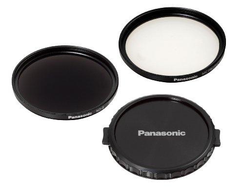 Panasonic VW-LF49NGU-K Filterset: Graufilter (ND8) und MC-Schutzfilter, 49 mm Durchmesser, mit Objektivabdeckung, (geeignet für Full HD Camcorder von Panasonic)