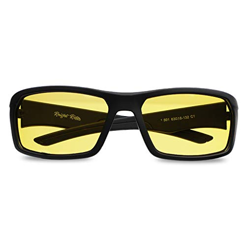Intellilens Wrap Around Unisex Night Vision Anti Glare 100% UV Protected Goggles Sunglasses For Riding Driving Travelling Sports and Outdoors
