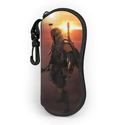 Fundas de Gafas Star Wars Motiv Estuche blando para gafas de sol Estuche ultraligero de neopreno con cremallera y presilla para cinturón