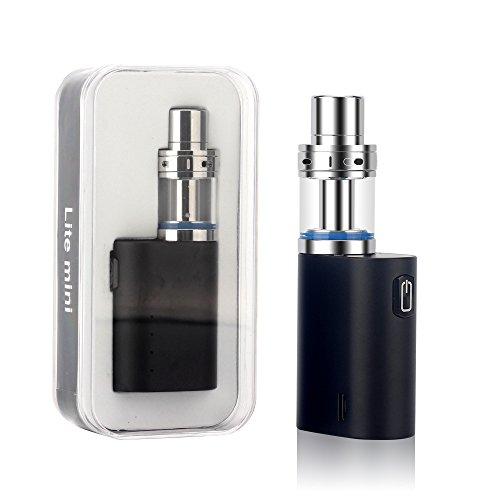Elektronische Zigaretten, JOMO TECH Lite Mini 35W E Shisha Pen Kit Vape Stift Box Mod Pyrex Glas Tank 1000mAh USB Aufladen, keine Flüssigkeit Nein Nikotin, E Zigarette Ecigs, Schwarz