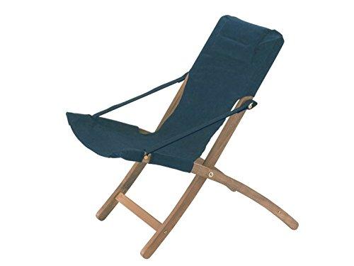 fiam Deck Chair Linda Art. 900LNCVS Wood Frame canvas dark green