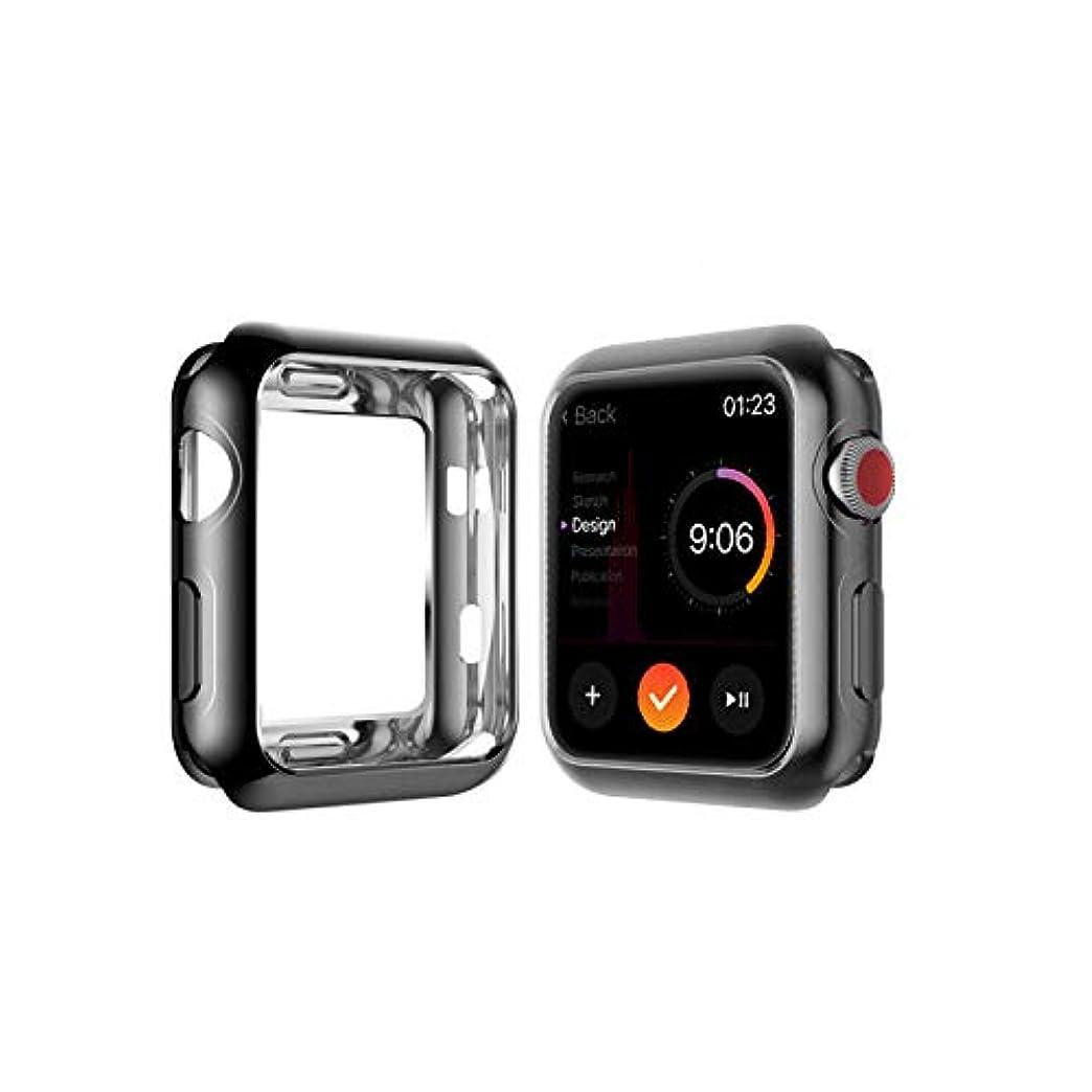 隠考古学測定可能Apple watch 5 40mmチタン合金スクリーン保護フィルム/新型iWatch 4 40mm フィルム画面保護カバー HD超薄型保護カバーApple Watchシリーズ5に適用 鮮明、高感度、すり傷防止、衝撃防止、軽くて取り付けやすい (44mm, black)