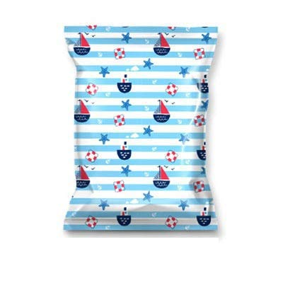 Vacuum Storage Compression Bag Ocean Pattern Plastic Storage Bag Home Organizer For Clothes Foldable Seal Travel Organizer (Color : 50 x 70cm)