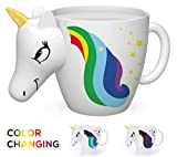 unicorn coffee mug - Color Changing Unicorn Mug - 3D Coffee Mugs Rainbow Design, Your morning cup of coffee or tea will never be the same! Our ceramic mugs will start your day with magic rainbows. Great Unicorns Presents!
