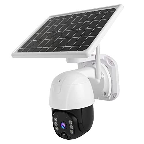 Telecamera di sicurezza per esterni, telecamera di sicurezza Ptz 15600mAh Rilevazione del movimento della batteria per cantieri Periferie Ville Case per serbatoi Terreni agricoli Stagni di