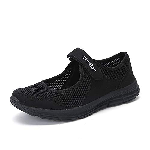 Sneaker Damen Schuhe, Weant Damen Herren Laufschuhe Sportschuhe Netz mit Klettverschluss rutschfeste Fitness Atmungsaktiv Turnschuhe für Frauen Outdoor Bequem Joggingschuhe Freizeitschuhe