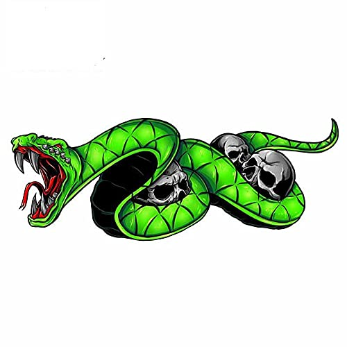 A/X 13cm For Snake Skull Car Accessories Stickers Vinyl Material Decal Car Accessories Creative Sticker Scratch