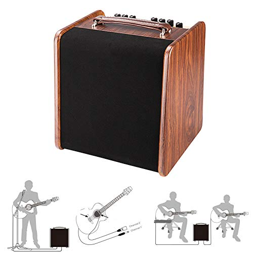 Best Review Of MG.QING Acoustic Guitar Sound Amplifier Portable Bluetooth Speaker Electric Guitar Am...