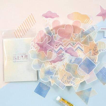 QWERTYU 60 stks Voedsel Meisje Bos Gebaar index washi papier sticker decoratie DIY ablum dagboek scrapbooking label sticker kawaii briefpapier LIJIANME, 5 stuks.