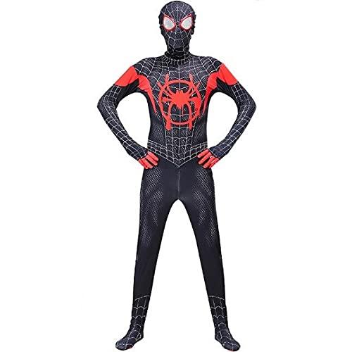 Fantasia Homem Aranha Miles Morales Cosplay Adulto Bodysuit Elastano Ts Rock Heroes (Asian L (160-170 cm))