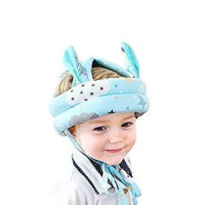Baby Infant Toddler Helmet No Bumps Safety Head Cushion Bumper Bonnet, Adjustable Protective Cap Child Safety Headguard Hat for Running Walking Crawling