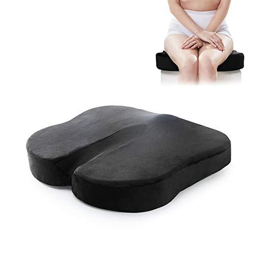 Anti-hemorrhoid Cushion, Slow Rebound Memory Foam Cushion, Reduce Tailbone Pain. Electronic for Office/Home Car