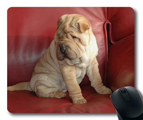 Benutzerdefinierte Mauspad, Hunde Welpen Haustiere Mauspads, Montage Hund Welpen Sharpei Couch, Hunde Gaming Mausmatte