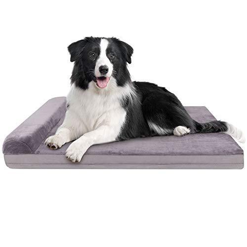 JoicyCo Hundebetten für mittelgroße Hunde, Haustierbetten, Hundebox-Matten, Schaumstoffkissen, rutschfest mit waschbarem Bezug, 80 cm