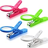 4 Pieces Pet Nail Cutter Trimmer with Magnifying Glass Nail Clipper Trimmer Small Animal Nail Clipper Toenail Clippers for Pet Hamster Hedgehog